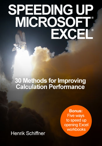 speeding, up, microsoft, excel, cover, book, performance