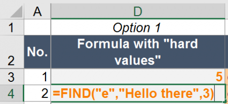 find, example, excel