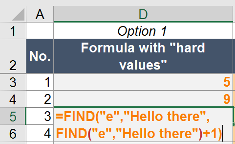 find, example, second