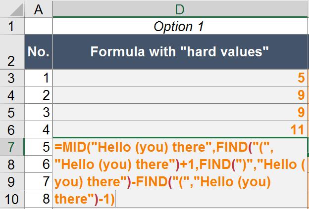 example, return, find, mid, excel