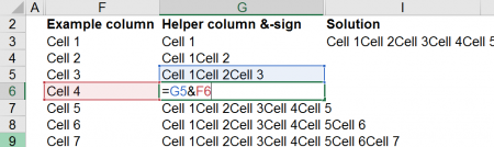When using the &-sign for combining 1,000 cells, the easiest way is to insert a helper column.