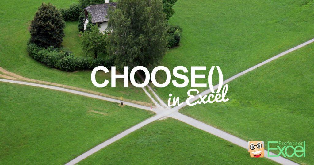 choose, formula, excel