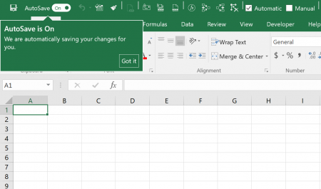 "If you only want to disable the AutoSave function for the current workbook in Excel, click on ""Off"" in the Quick Access Toolbar."