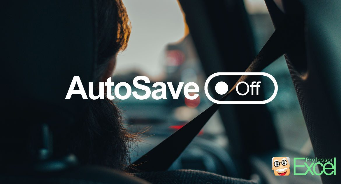 Disable AutoSave permanently in Office