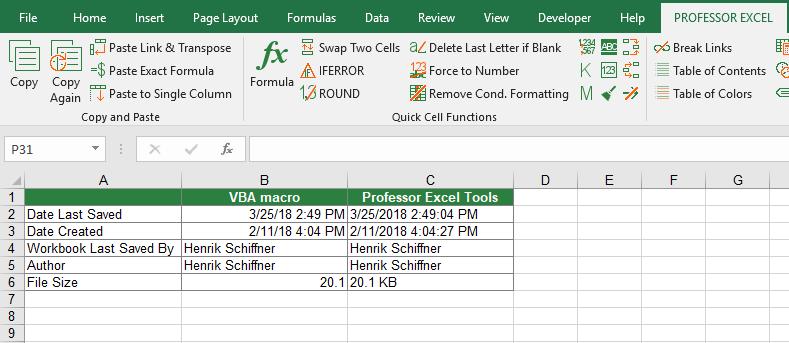 180325_Example_Workbook | Professor Excel | Professor Excel