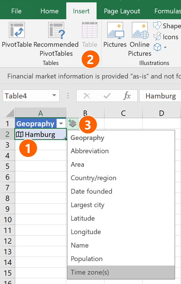Add columns pulling the data instantly with just one click.
