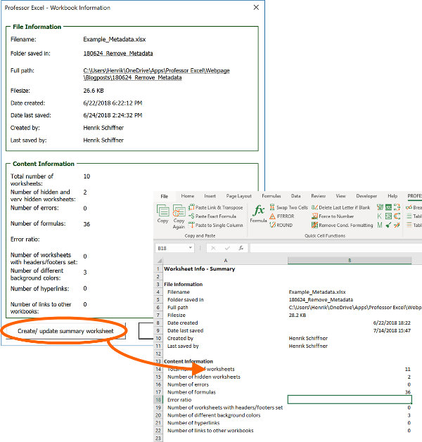 See the metadata with Professor Excel Tools.