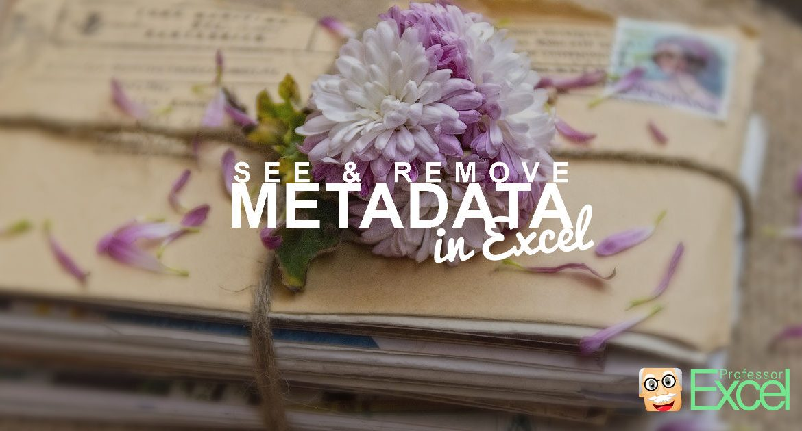 Metadata in Excel: 6 Methods of How to See and Remove All