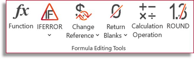 Formula Editing Tools in Professor Excel Tools
