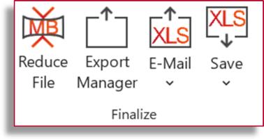 Finalize Features in Professor Excel Tools