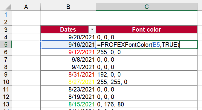 Use Professor Excel Tools for returning the font color. For free!